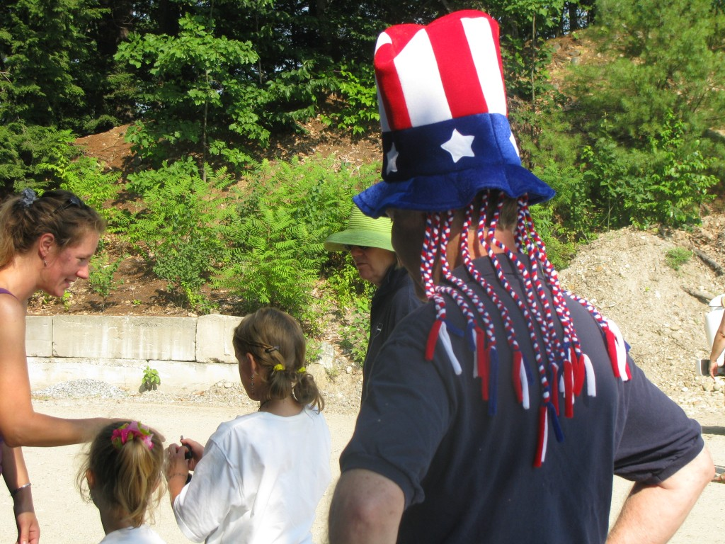Fr. John wore an Uncle Sam hat complete with patriotic dreadlocks.