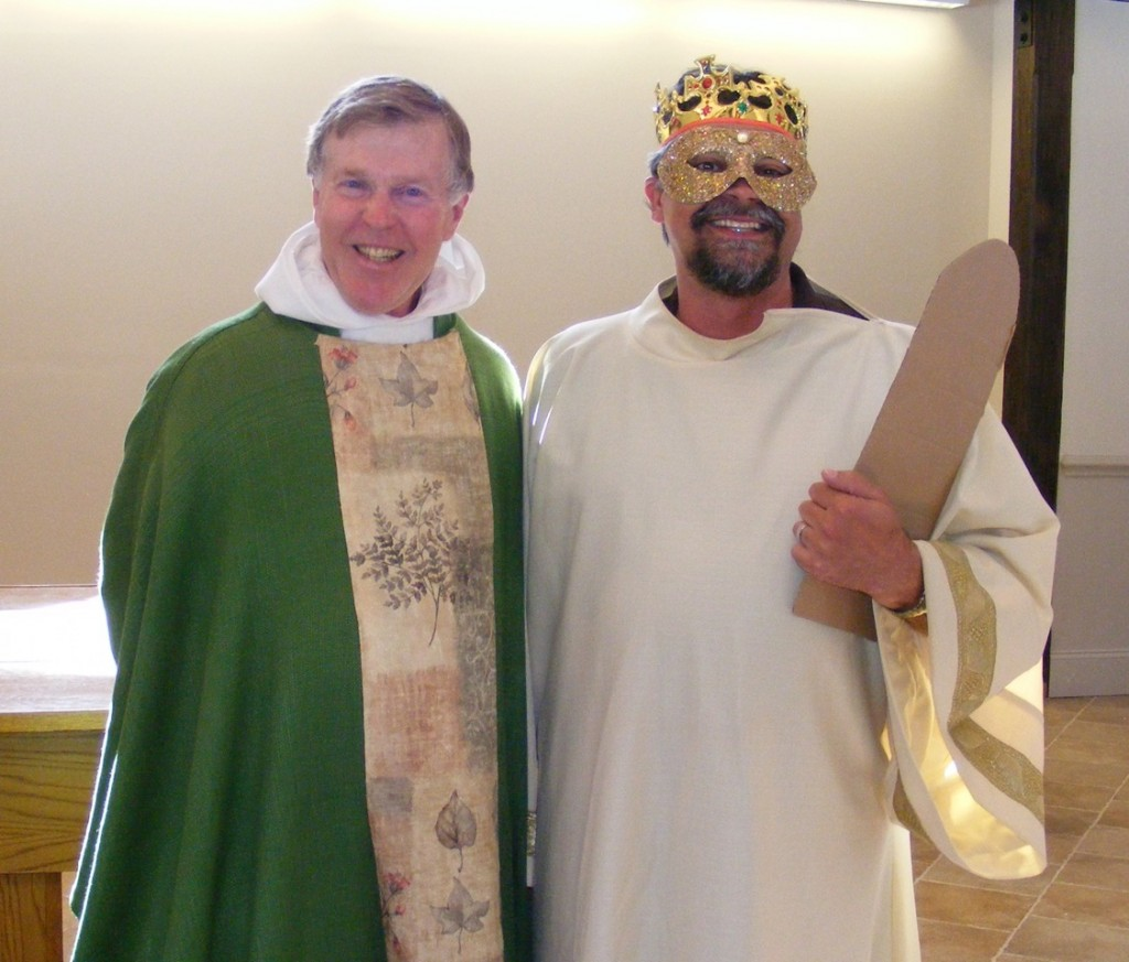 Fr. John poses with the Lord God.